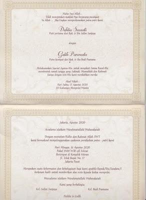 Cetak Undangan Pernikahan Model Amplop Erba 88134