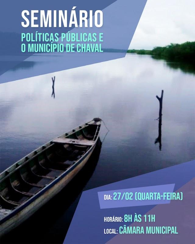 """""""Seminário de Políticas Públicas"""" será realizado na Câmara Municipal de Chaval"""