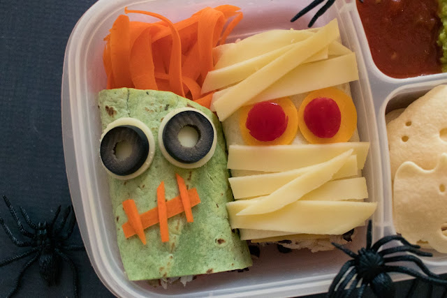 How to Make a Halloween Zombie and Mummy Wraps Lunch