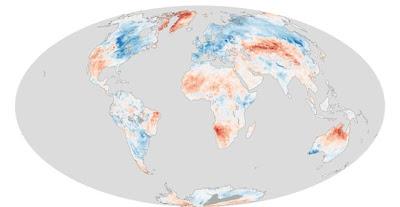 Anomalía temperaturas marzo 2013