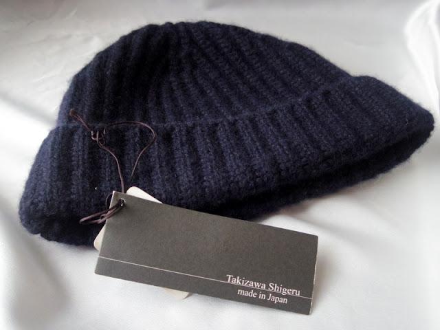 タキザワシゲルのカシミアニット帽