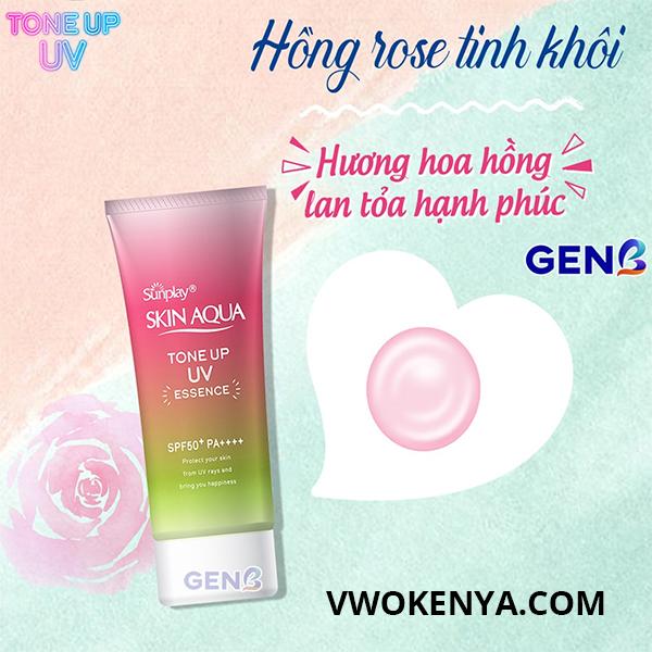 Kem chống nắng Sunplay Skin Aqua Tone Up UV Essence Aura (Rose)