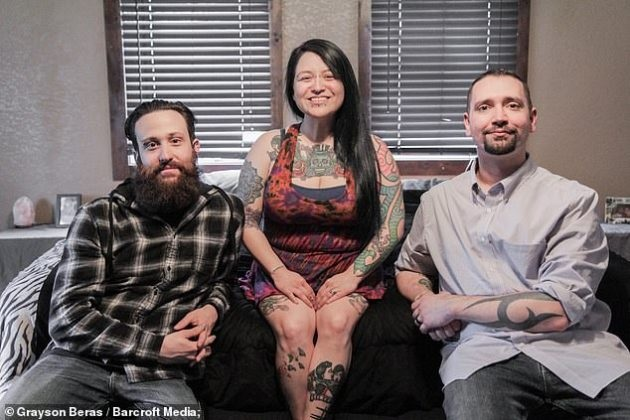 Meet Mom Married And Living Together With Her Two Husbands (Photos)