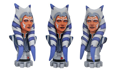 Star Wars: The Clone Wars Ahsoka Tano Legends in 3D Resin Bust by Gentle Giant
