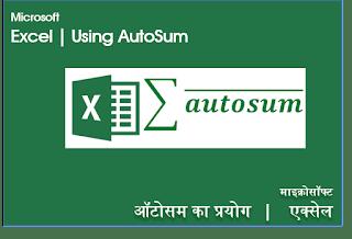 Hindi Videos AutoSum in Excel