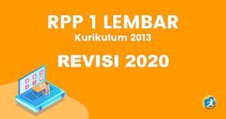 RPP 1 Lembar Mapel Fiqih Kelas 1, 2, 3, 4, 5, 6 Revisi 2020 Khusus MI