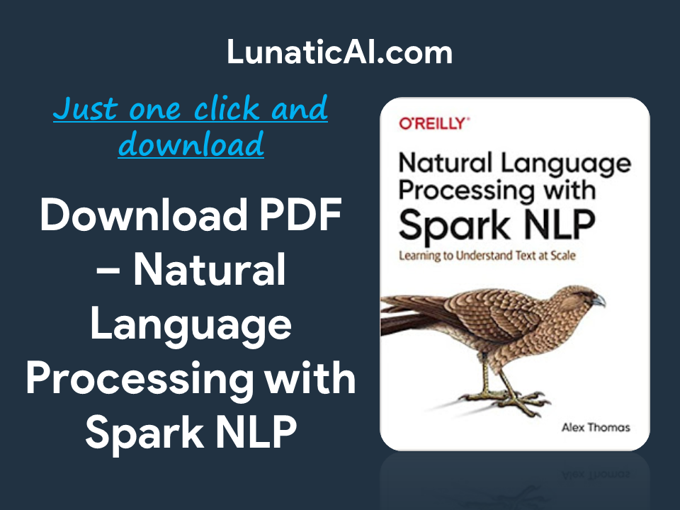 Natural language Processing with Spark NLP PDF Download