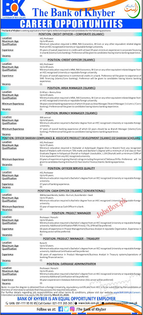 Bank Of Khyber Jobs 2020