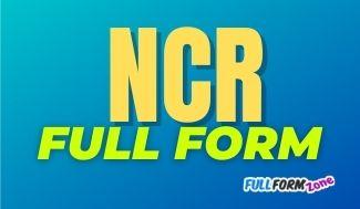 NCR Full Form