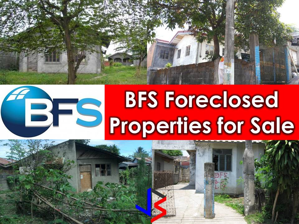 Looking for a real estate properties to purchase or for your investment? The following are properties for sale from Bahay Financing Services (BFS Homes. Many of these are bankruptcy house. All properties are below P1 million. You can find foreclosure homes in the list as well as affordable living homes for your family.    Note: Jbsolis.com is not affiliated with BFS and this post is not a sponsored. All information below is for general purpose only. If you are interested in any of these properties, contact directly with the offices' branches in your area or in contact info listed in this post. Any transaction you entered towards the bank or any of its broker is at your own risk and account.   Read more: http://www.jbsolis.com/2018/02/bfs-home-foreclosure-auction-this-February-2018.html#ixzz57j71BbzM