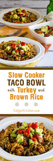 Slow Cooker Taco Bowl with Turkey and Brown Rice [KalynsKitchen.com]