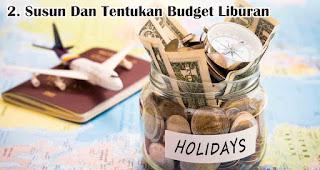 Susun Dan Tentukan Budget Liburan merupakan tips hemat liburan di akhir tahun
