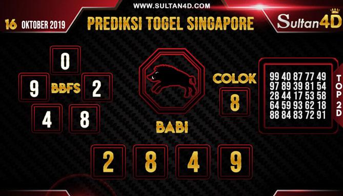 PREDIKSI TOGEL SINGAPORE SULTAN4D 16 OKTOBER 2019