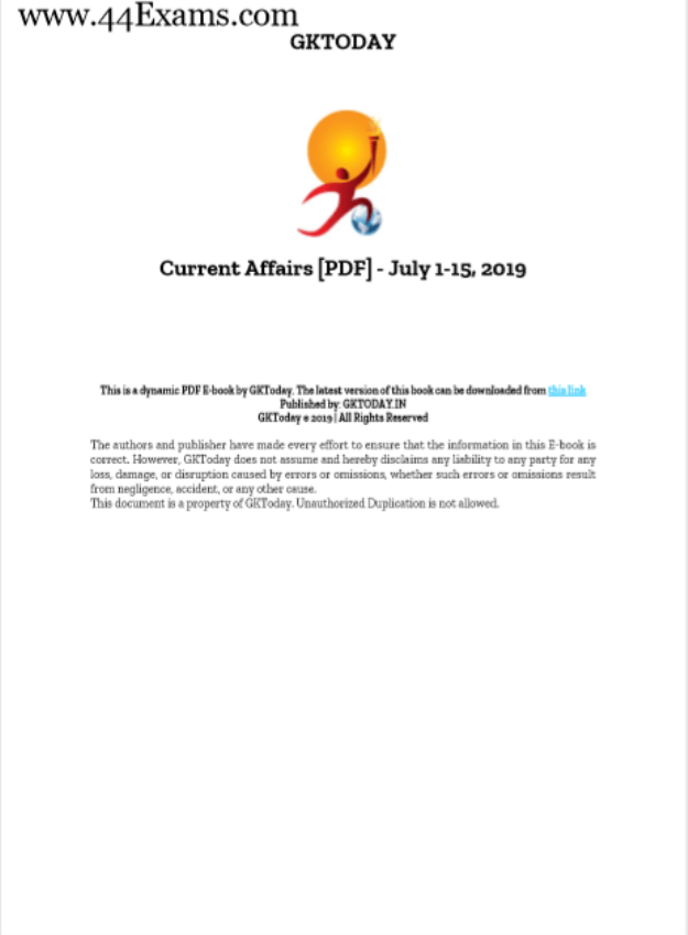 GK-Today-Current-Affairs-July-2019-For-All-Competitive-Exam-PDF-Book