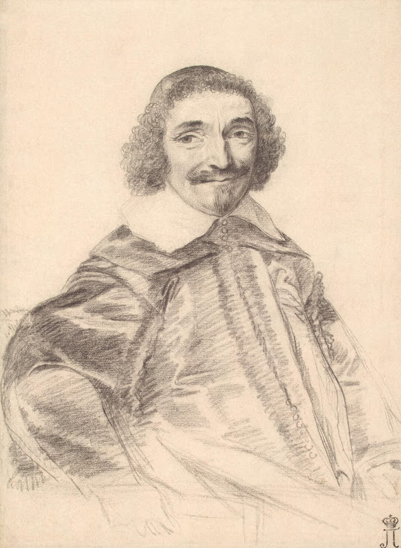 Portrait of Chancellor Segier by Claude Mellan - Portrait Drawings from Hermitage Museum