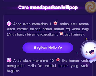 Lollipop usage function hello yo