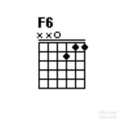 Chord gitar F6