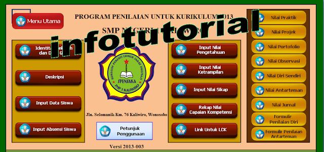 Aplikasi Raport Kurikulum 2013 SMP Terbaru 2017
