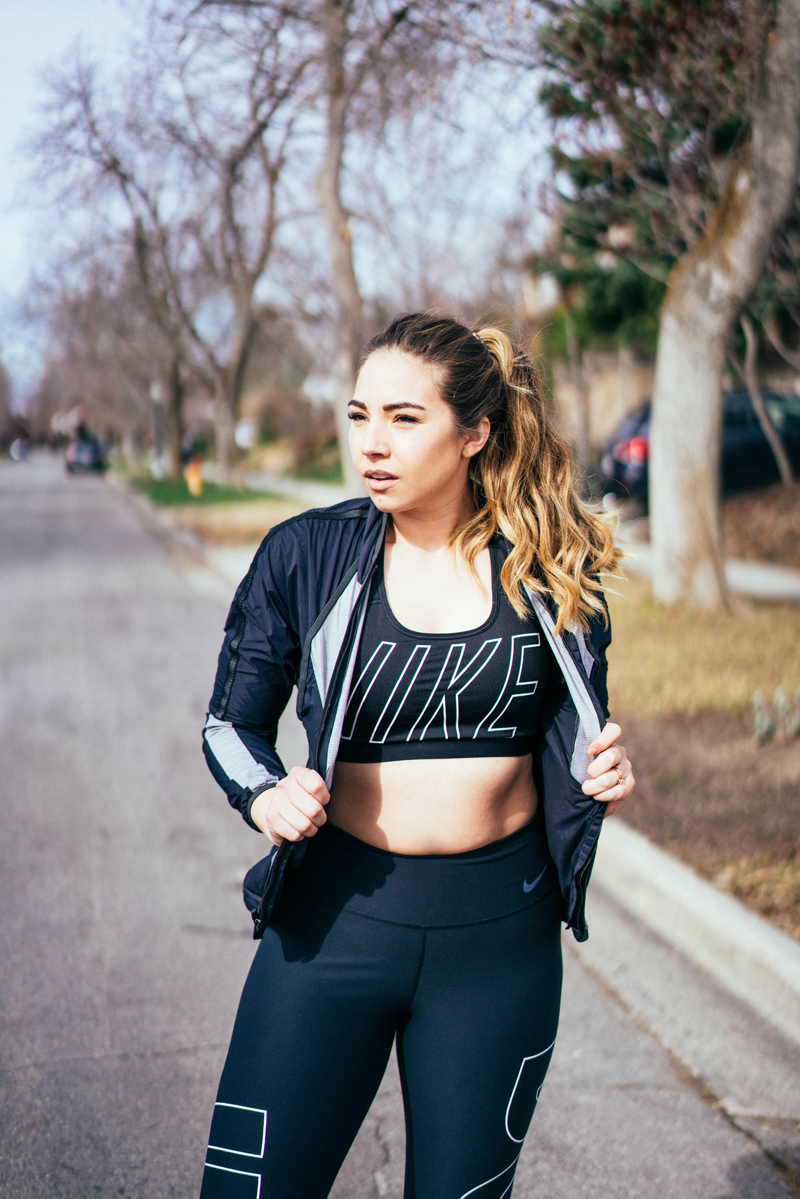nike sports bra, lauryncakes, health and wellness blog