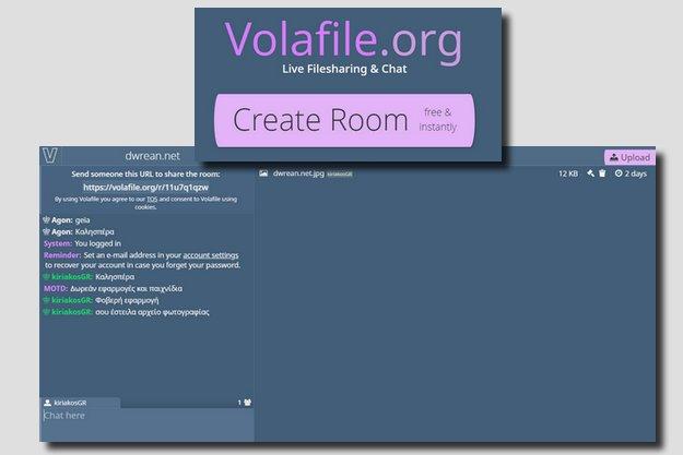 Volafile.io - Δωρεάν υπηρεσία ανταλλαγής μηνυμάτων και αρχείων