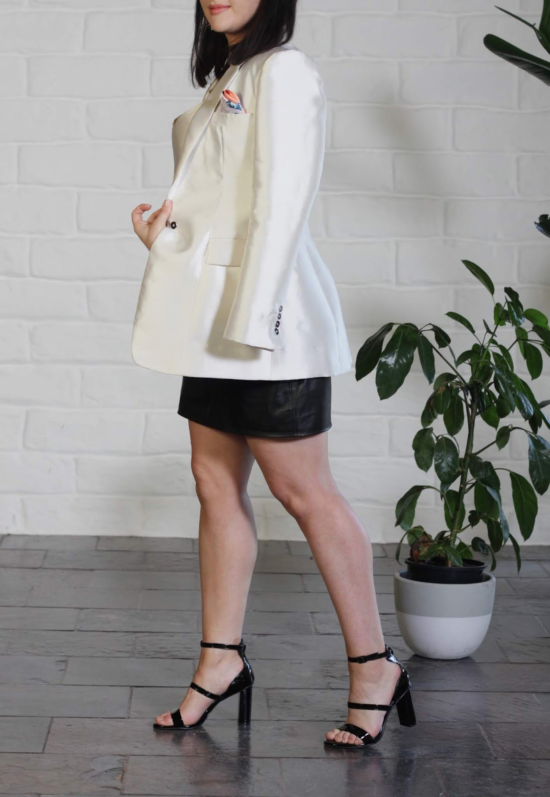 Julia Bobbin me made - Burda 6875 Blazer + Leather Skirt + Kate Bias Top