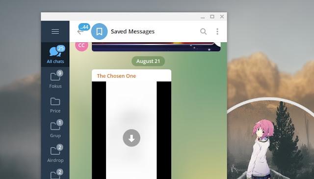 Cara Mengecilkan dan Memperbesar Tampilan Telegram di Windows