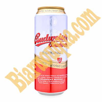 Bia lon Budweiser Budvar