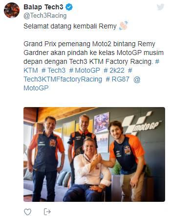 Remy Gardner Dipastikan Promosi Ke KTM Tech3 MotoGP Untuk Tahun 2022