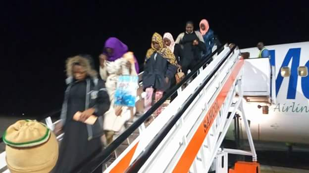 Photos: Fifth batch of Libyan Returnees arrive in Port Harcourt