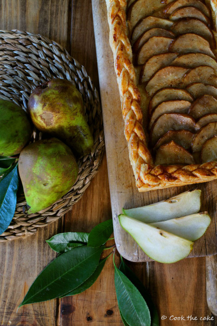 pear-puff-pastry, hojaldre-de-peras, toffee-de-jengibre, ginger-toffee