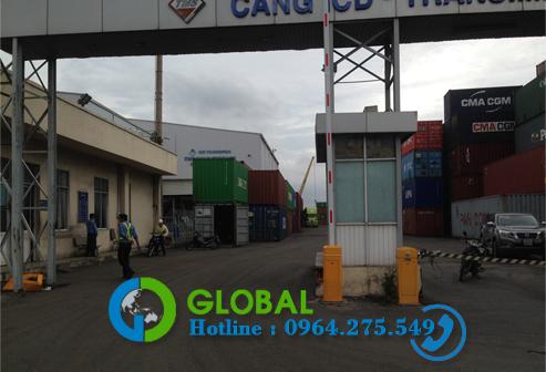 barie lắp đặt tại cảng Transimex