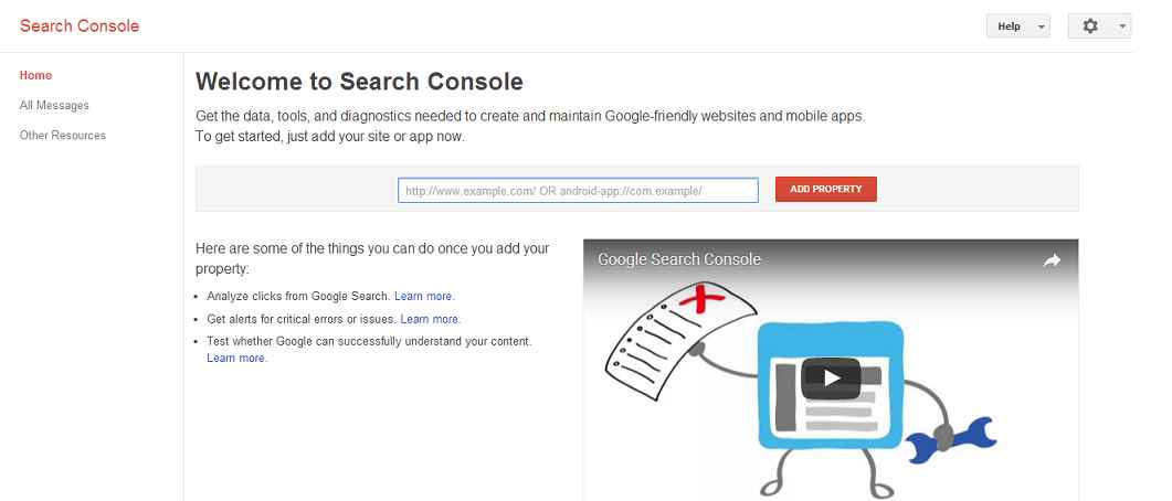 cara submit blog di google webmaster tool
