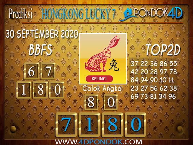Prediksi Togel HONGKONG LUCKY 7 PONDOK4D 30 SEPTEMBER 2020