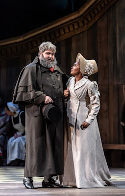 Prokofiev: War and Peace - James Platt as Count Rostov, Lauren Michelle as Natasha- Welsh National Opera (Photo Clive Barda)
