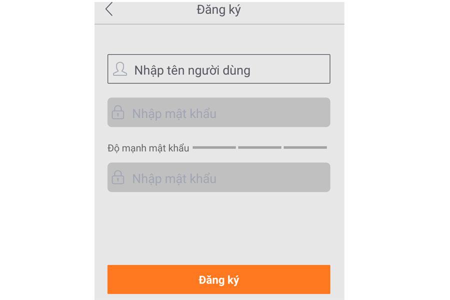 đăng ký tài khoản Ebitcam trên điện thoại