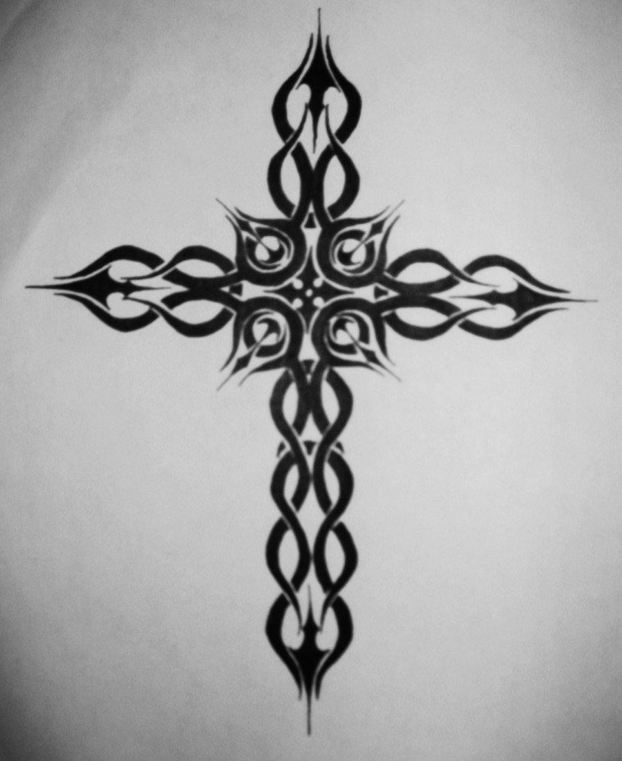 Tattoo Designs Cross: Janina Gavankar: Cross Tattoos Designs