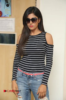Sushma Raj Pictures in Jeans at Radio City 91.1 FM for Eedu Gold Ehe Movie Promotion ~ Bollywood and South Indian Cinema Actress Exclusive Picture Galleries