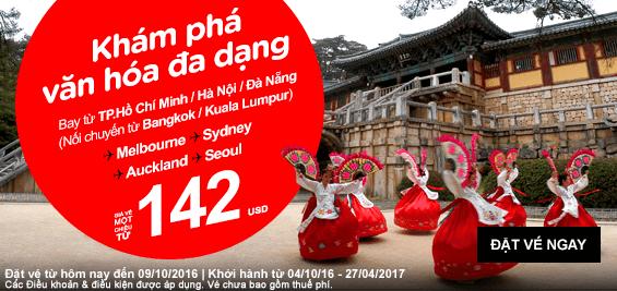 Siêu khuyến mãi cuối năm từ hãng Air Asia chỉ 6 USD