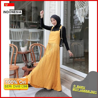 DMB1286 JUMPSUIT OVERALL CARDIGAN 1 KG MUAT 4 PCS ELLE OVERALL OVERALL POLOS MOSCREPE PREMIUM BARU 2021
