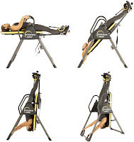 Angle adjustable from 90 degrees up to 180 degrees on Ironman Gravity 5000 Inversion Table, image