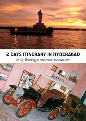 2 days itinerary Hyderabad Pinterest