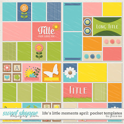 Life's Little Moments April: Pocket Templates