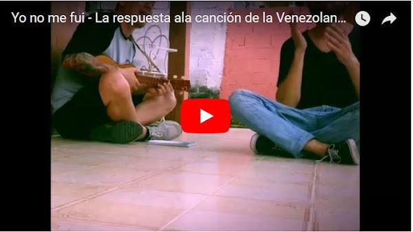 Yo no me fui - La respuesta  ala canción de la Venezolana en Perú