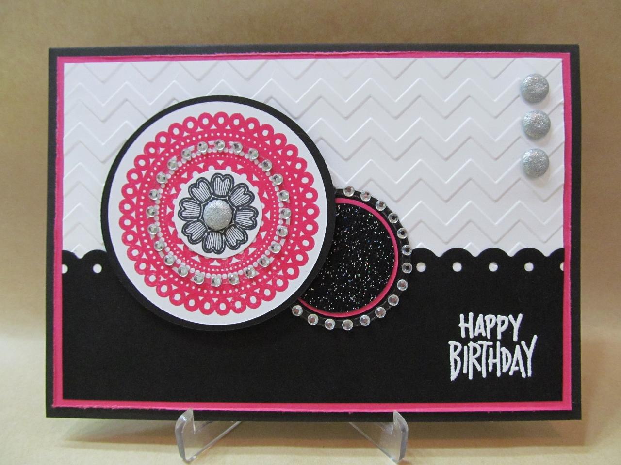 savvy handmade cards modern happy birthday card