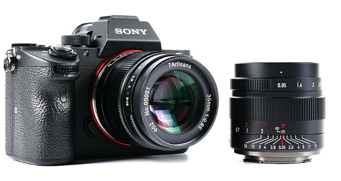 Объектив 7Artisans 35mm f/0.95 с камерой Sony