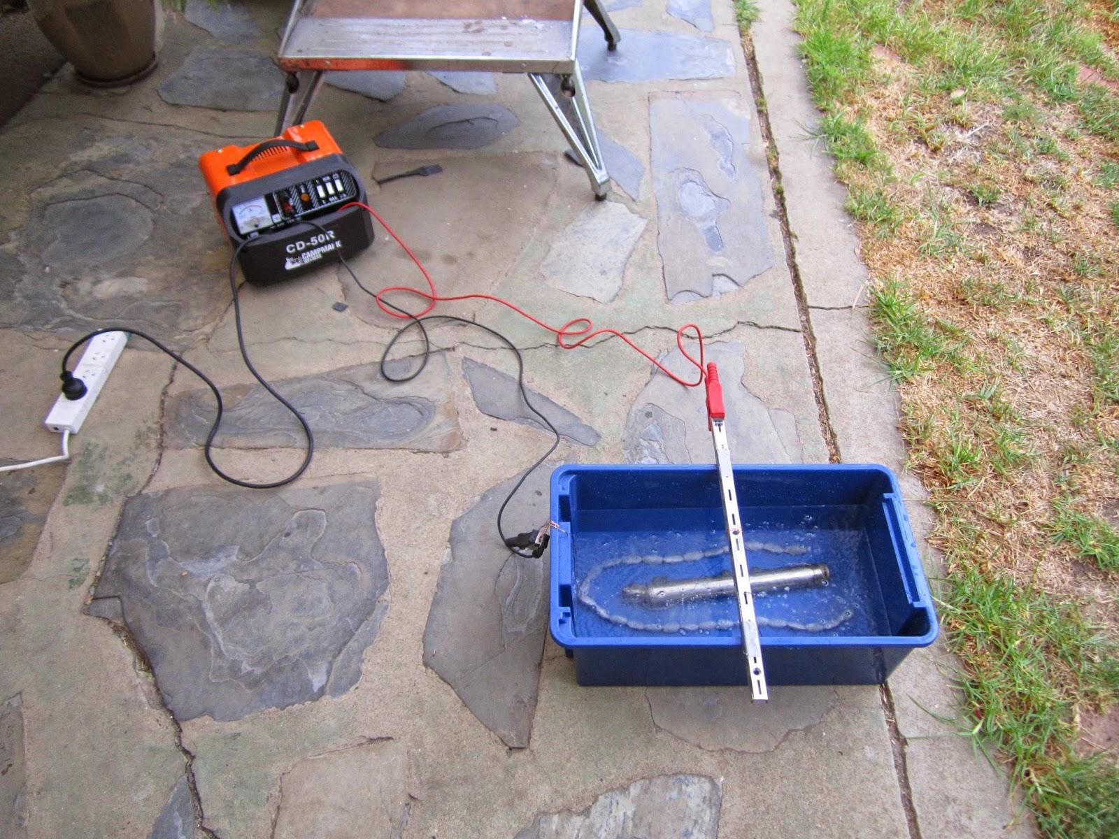 Initial set up -removing nickel plating
