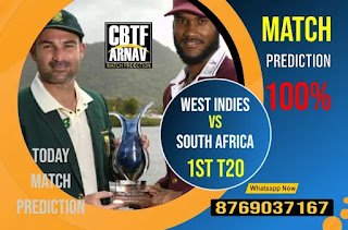 True T20 2021 Today match prediction ball by ball West Indies vs South Africa 2nd Match 100% sure Tips✓Who will win WI vs RSA Match astrology