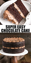 moist chocolate cake - French Silk Pie Cake