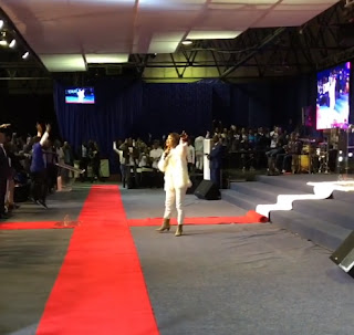 Photos/Videos of Tonto Dikeh ministering at a church in South Africa 2