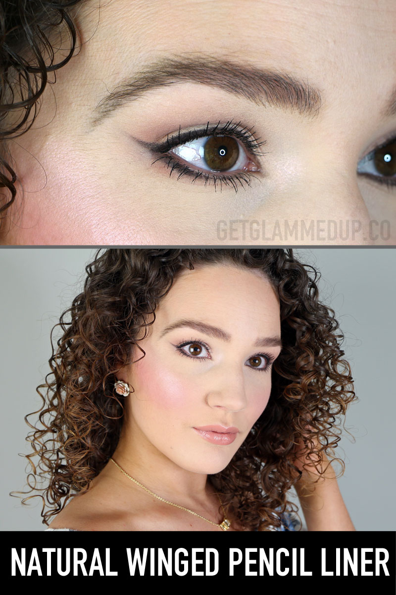 EASY Waterproof Winged Eyeliner Tutorial using Pencil Liner
